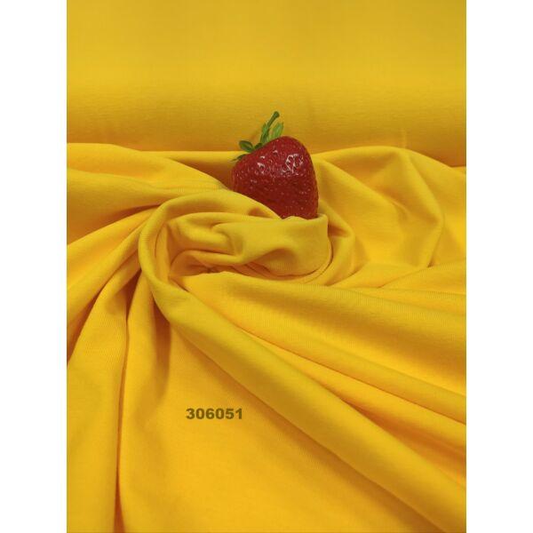 elasztikus egyszínű pamut jersey /citromsárga