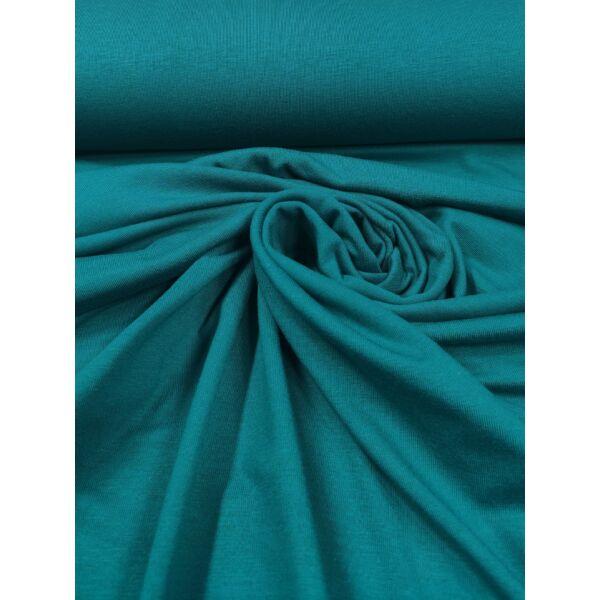elasztikus egyszínű bambusz jersey /petrolkék