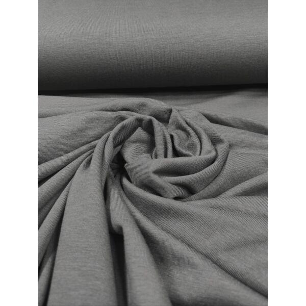 elasztikus egyszínű bambusz jersey /egérszürke