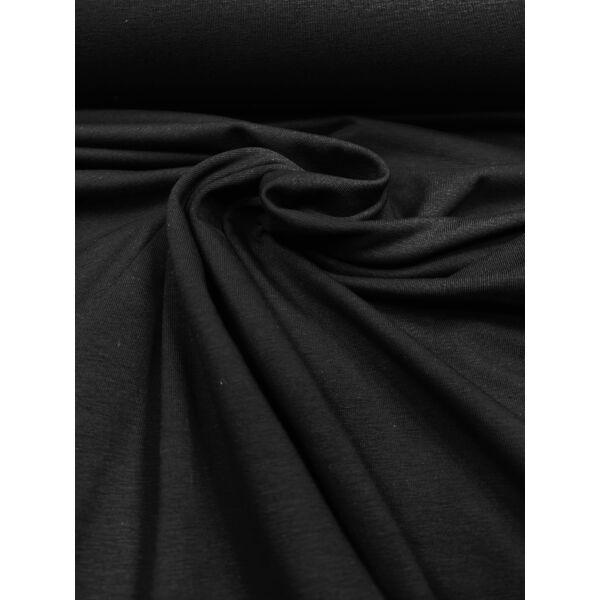 elasztikus egyszínű bambusz jersey /fekete