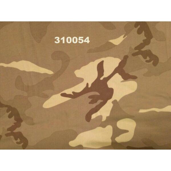 elasztikus pamut jersey /terep mintás /drapp