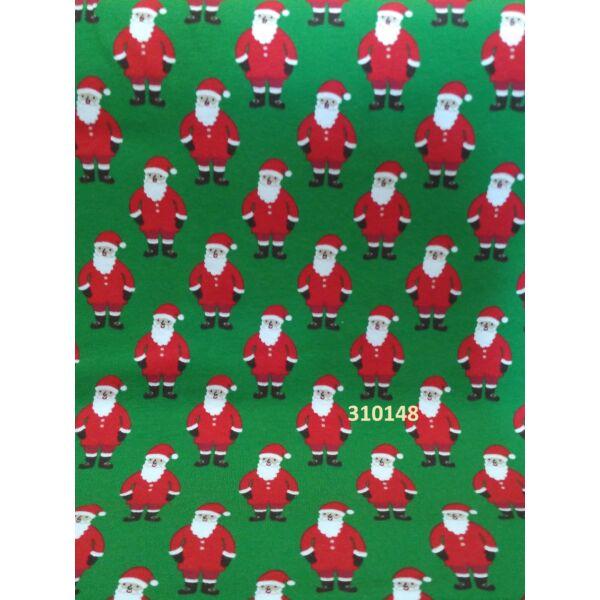 elasztikus pamut jersey /télapók /zöld