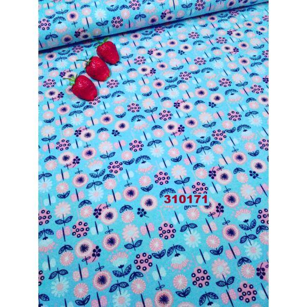 elasztikus pamut jersey /virágok