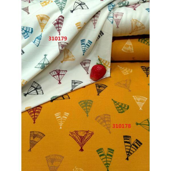 elasztikus pamut jersey /szines sátrak