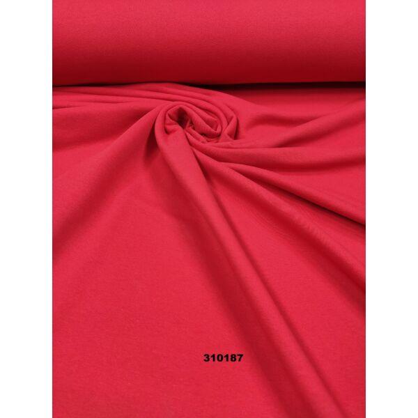 elasztikus egyszínű bolyhos futter /piros