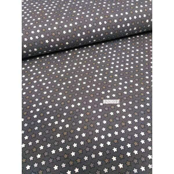 elasztikus pamut jersey /csillagos /szürke-szürke