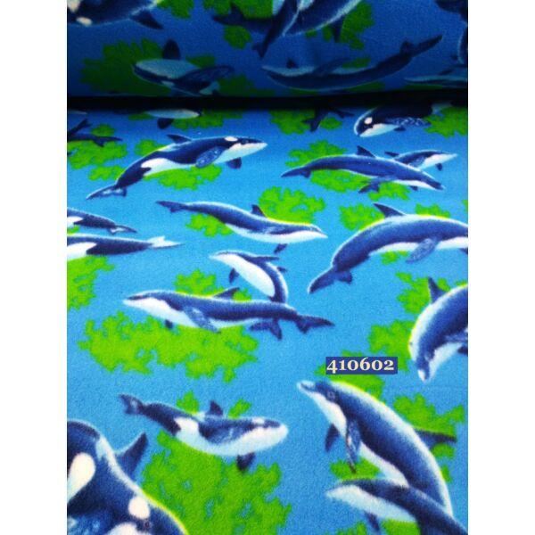 delfin mintás polár 21cm*10cm