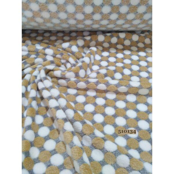 pöttyös wellsoft (2cm)/ drapp-fehér