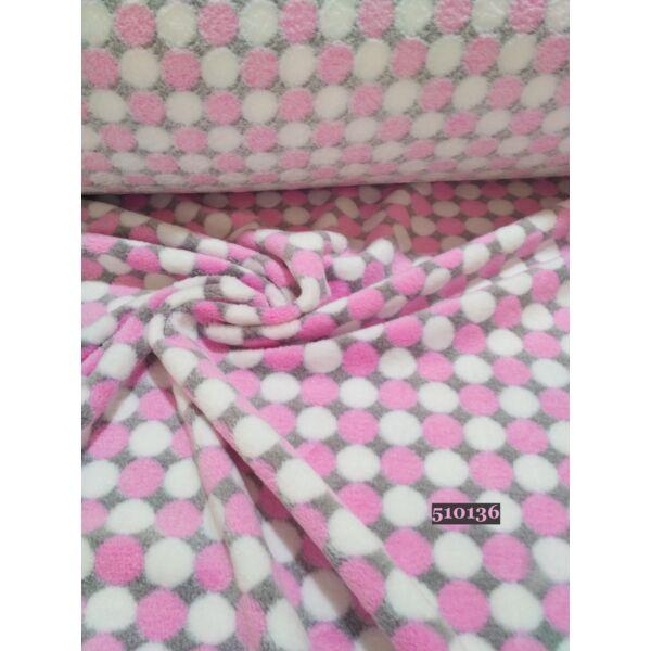 pöttyös wellsoft (2cm)/ rózsaszín-fehér