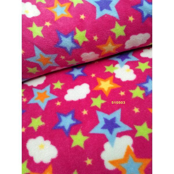 mintás wellsoft /színes csillagok /pink