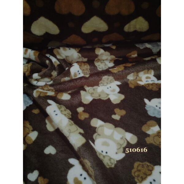 2 oldalas mintás wellsoft /barika-szivecske /barna