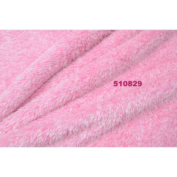 két tónusú, melange sherpa, rózsaszín