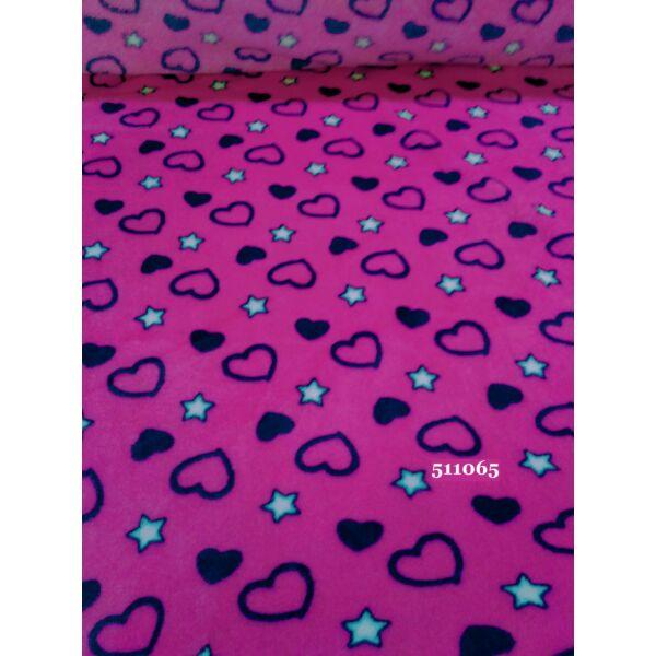 szivecske mintás wellsoft /sötét pink-sötét kék