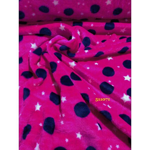 mintás wellsoft /pöttyös (3cm) /sötét pink-sötét kék