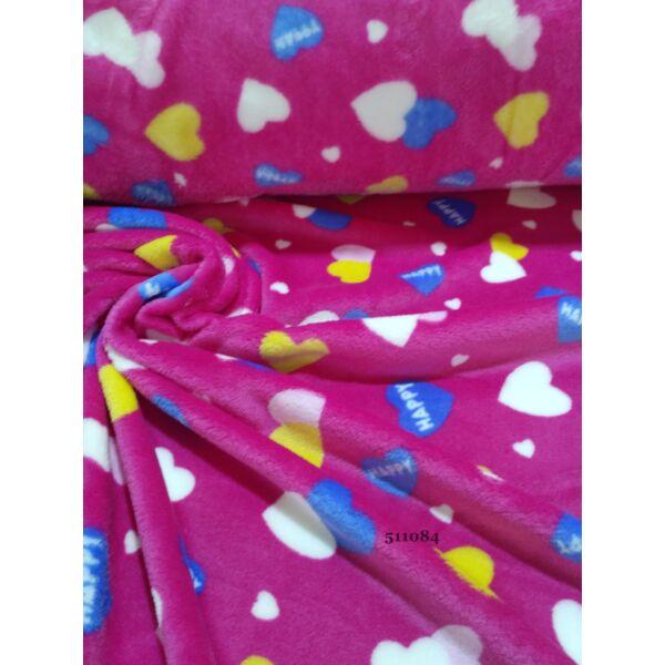 HAPPY szivecske mintás wellsoft /pink