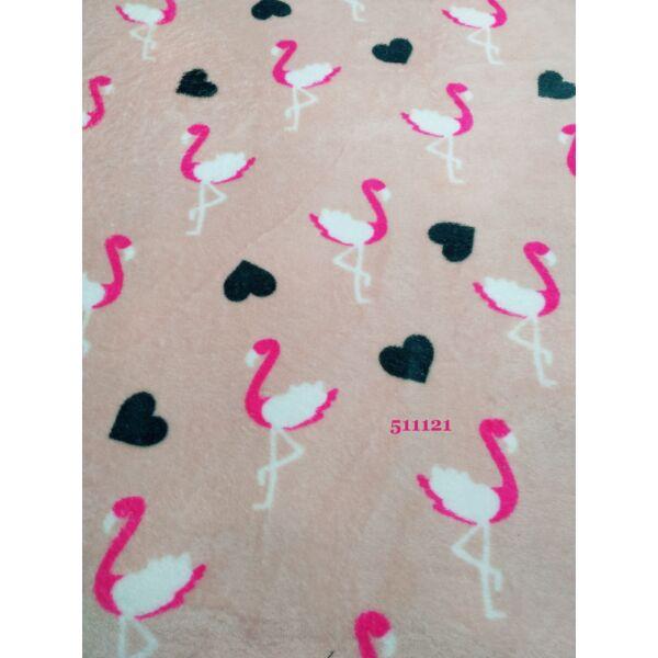 mintás wellsoft /flamingó-szív /rózsaszín