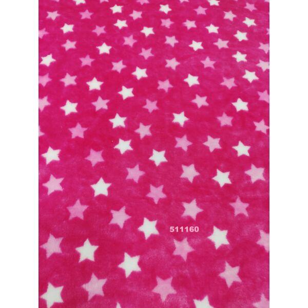 mintás wellsoft /rózsaszín fehér csillagok 2 cm /rózsaszín
