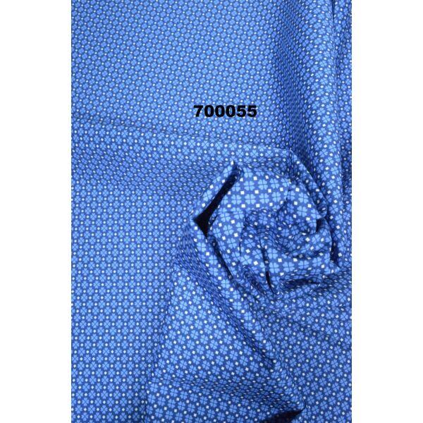 elasztikus mintás puplin /lóherés /kék
