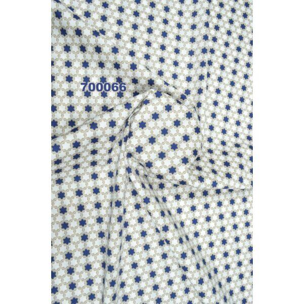 elasztikus mintás puplin /csillagos /világos drapp