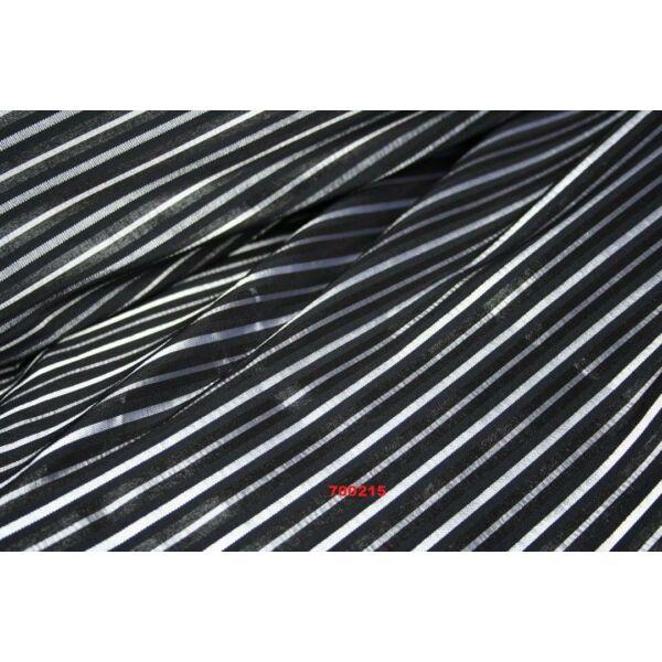EXTRÁN elasztikus puplin /csíkos /fekete-fehér(FÉLMÉTER)