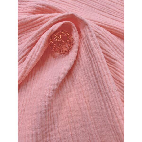 egyszínű pamut dupla géz /világos lazac