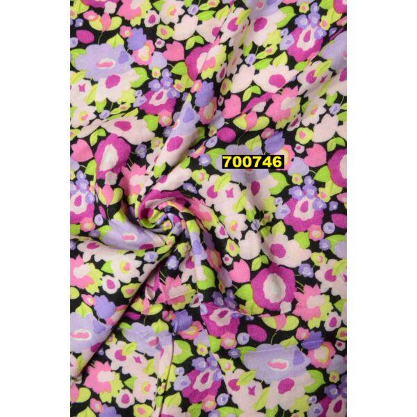 Classic flokon /rajzolt virágok /lila