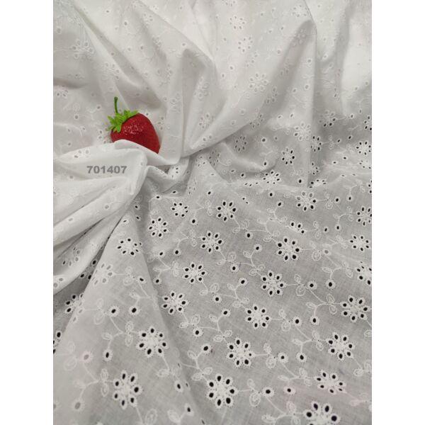 egyszínű madeira /kisvirágok sorban /fehér