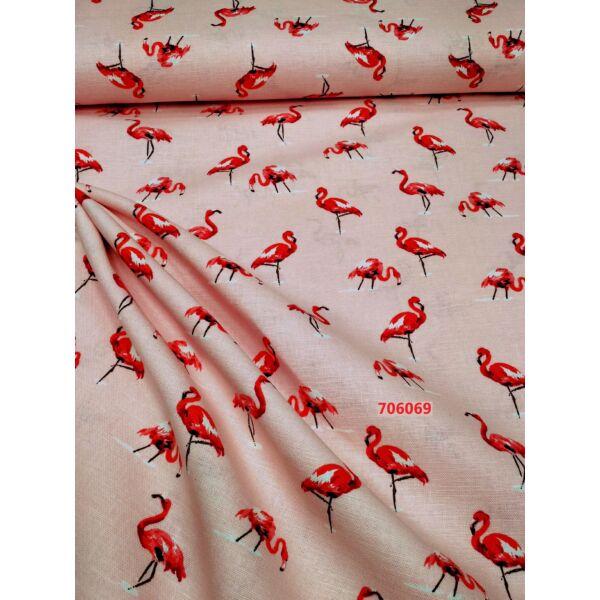 len anyag /flamingók /rózsaszín