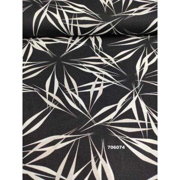 mintás len /fehér-szürke absztrakt minta /fekete
