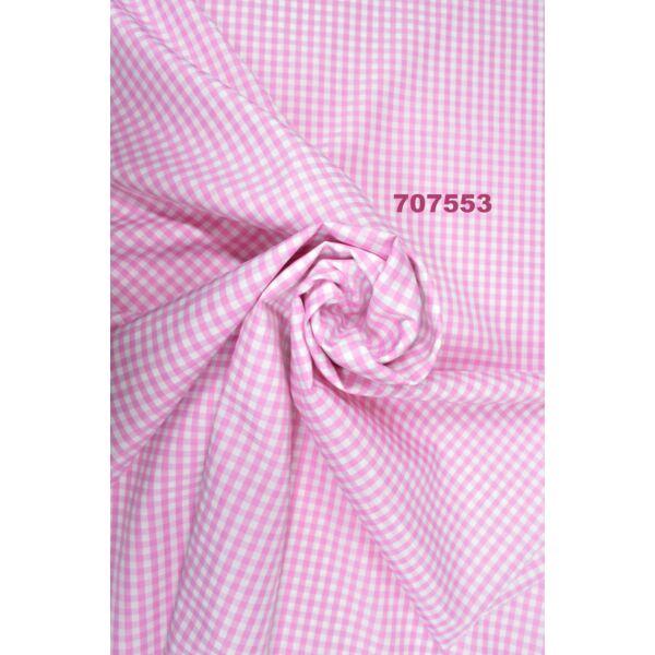 mintás puplin /Bross kockás /rózsaszín