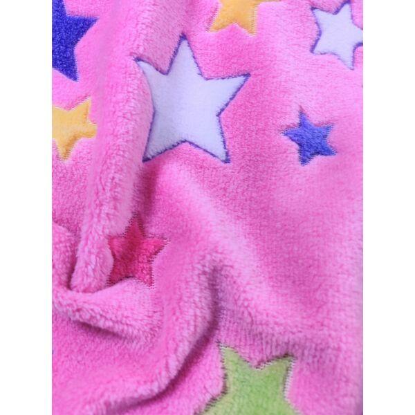 mintás wellsoft /szines csillagok /rózsaszín