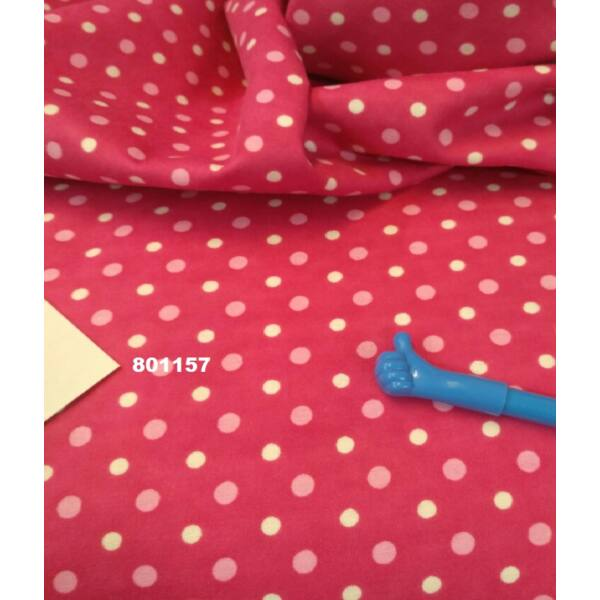 flanell /pöttyök 6mm / pink