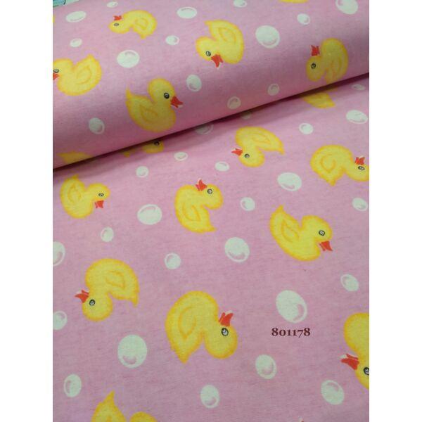 mintás flanell /kiskacsák /rózsaszín