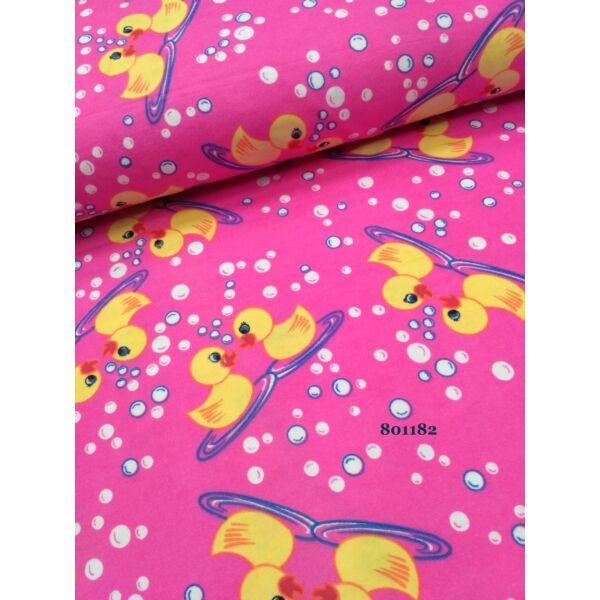 kiskacsák pink alapon /flanell