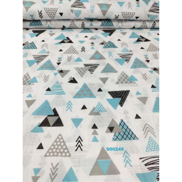 pelenka-pamut muszlin /háromszögek (legnagyobb 5cm*6cm) /türkiz