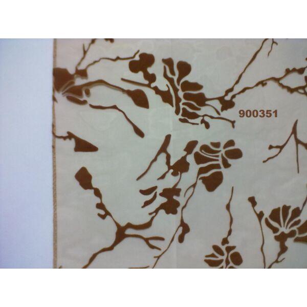mintás organza /absztrakt mintás /barna