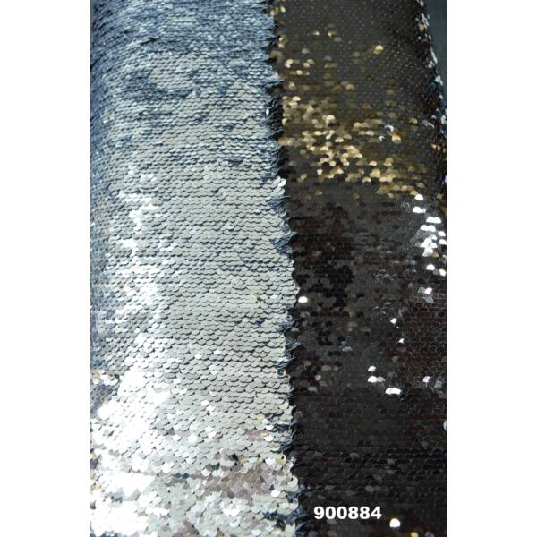forgóflitteres alkalmi anyag /fekete-ezüst
