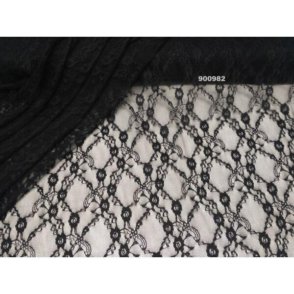 elasztikus csipke /fekete