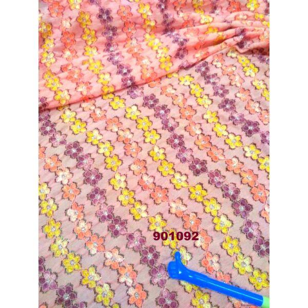 elasztikus csipke /hullám /rózsaszín