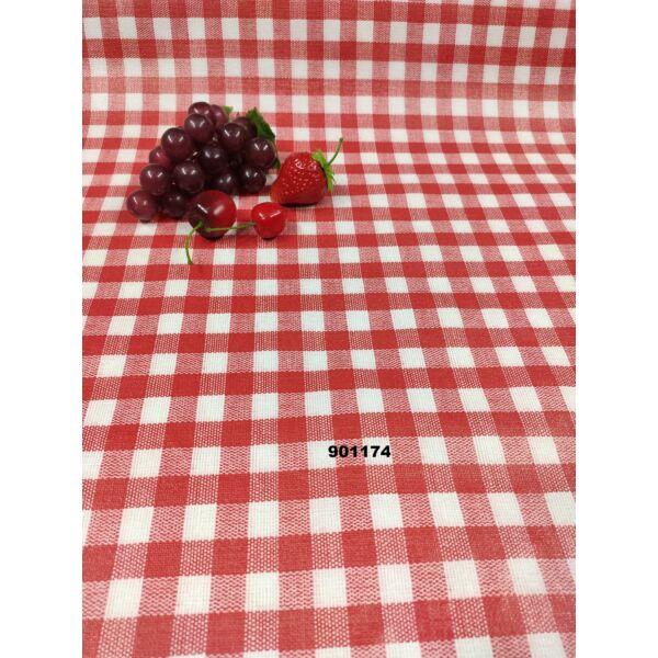 viaszos vászon/ kockás (1,3cm*1,3cm)/ piros