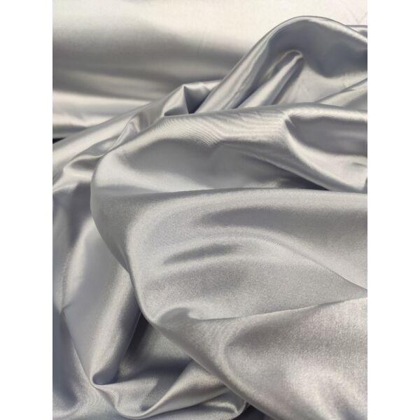 egyszínű elasztikus szatén /ezüst szürke