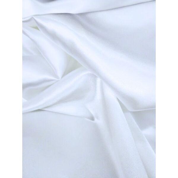 egyszínű elasztikus szatén /fehér