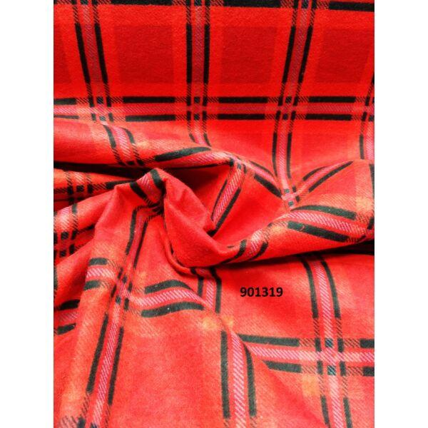kockás flanell /piros nagykockás (6cm*6cm)