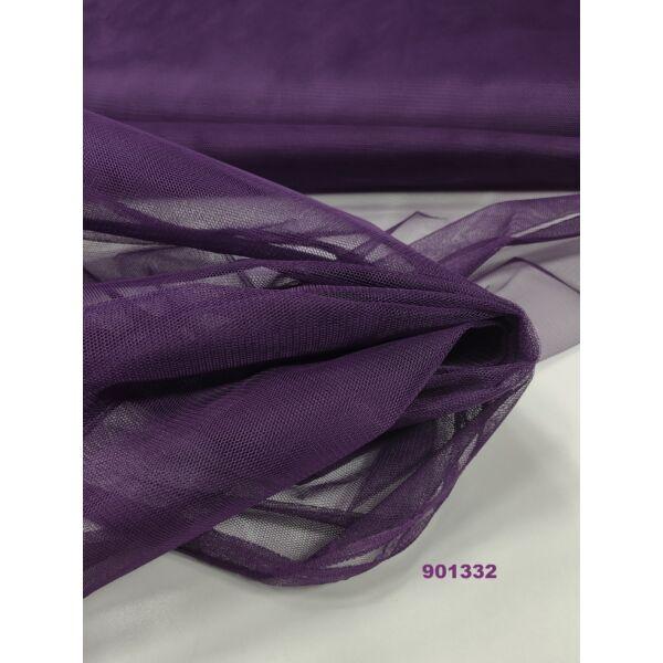 Keményebb tüll 140cm széles/ padlizsán lila