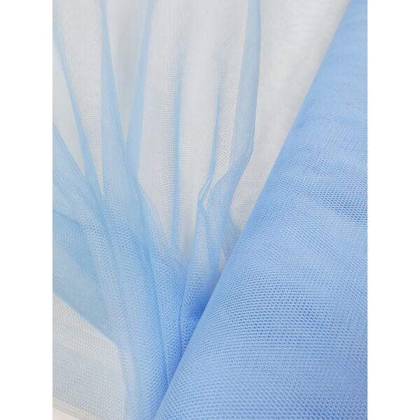 Keményebb tüll 140cm széles/ világos kék