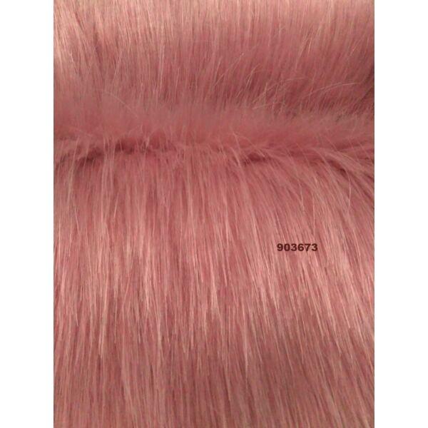 hosszúszőrű műszőrme /rózsaszín